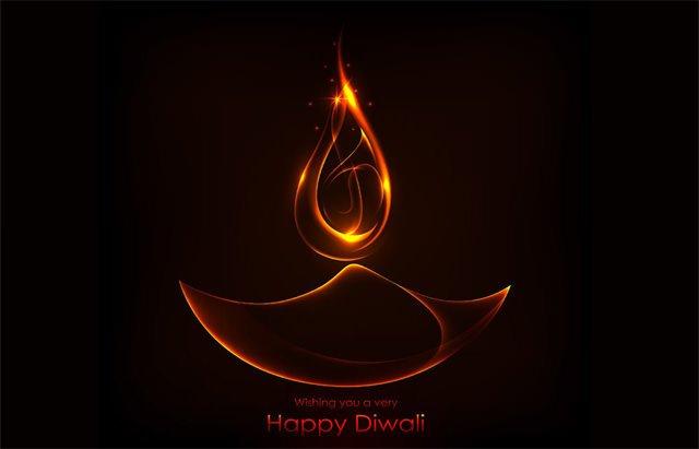 Burning Diwali Diya Wishes Wallpapers