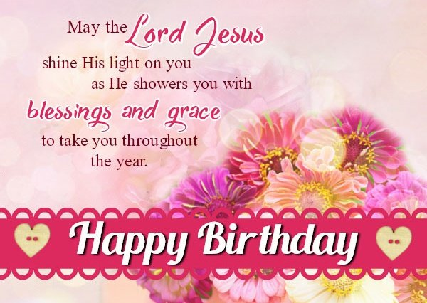 Christian Birthday Wishes Card