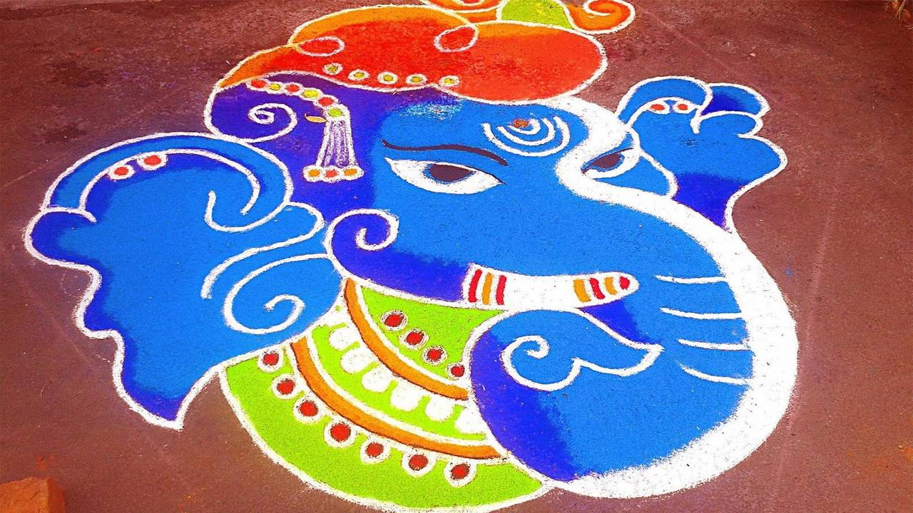 Diwali Rangoli Full HD Wallpaper