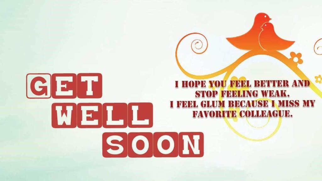 Get Well Soon Reply in English
