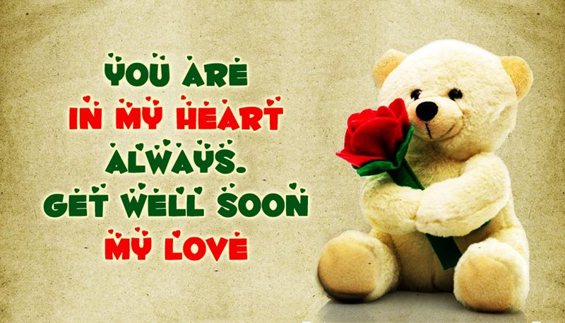 Get Well Soon Teddy Bear Wishes