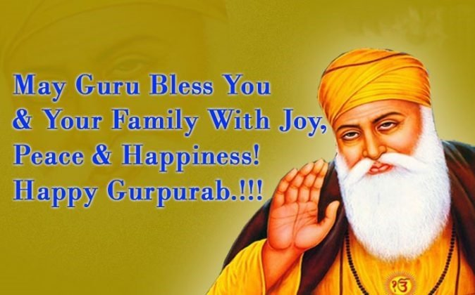 Guru Nanak Gurpurab Wishes English
