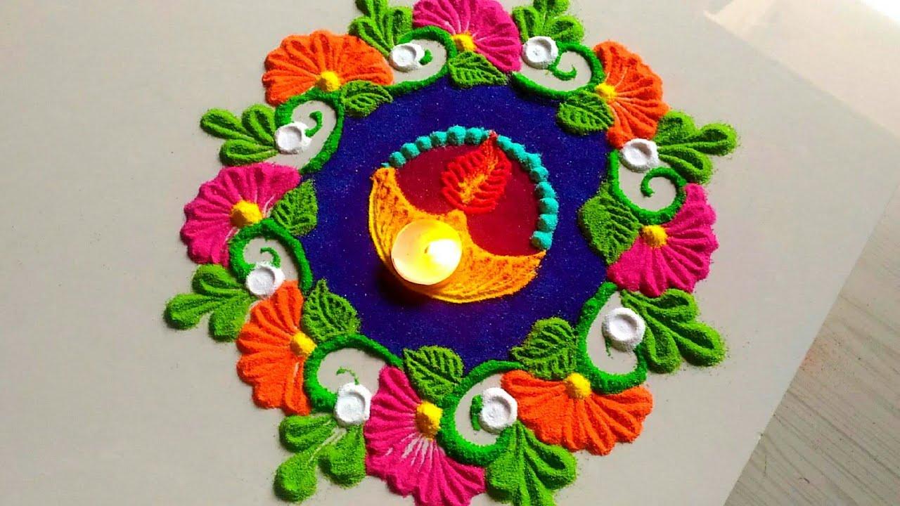 Happy Diwali Rangoli HD Photo