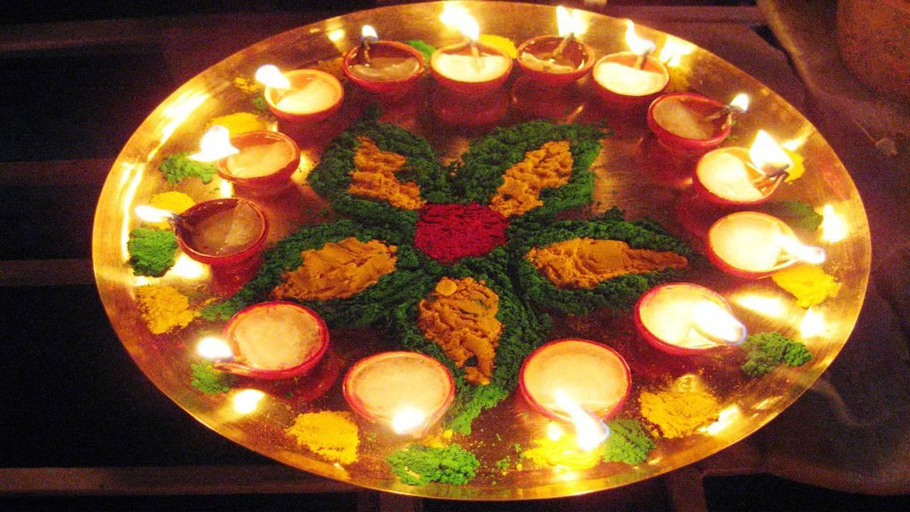 Happy Diwali Rangoli Photo HD