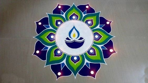 Happy Diwali Rangoli Photo