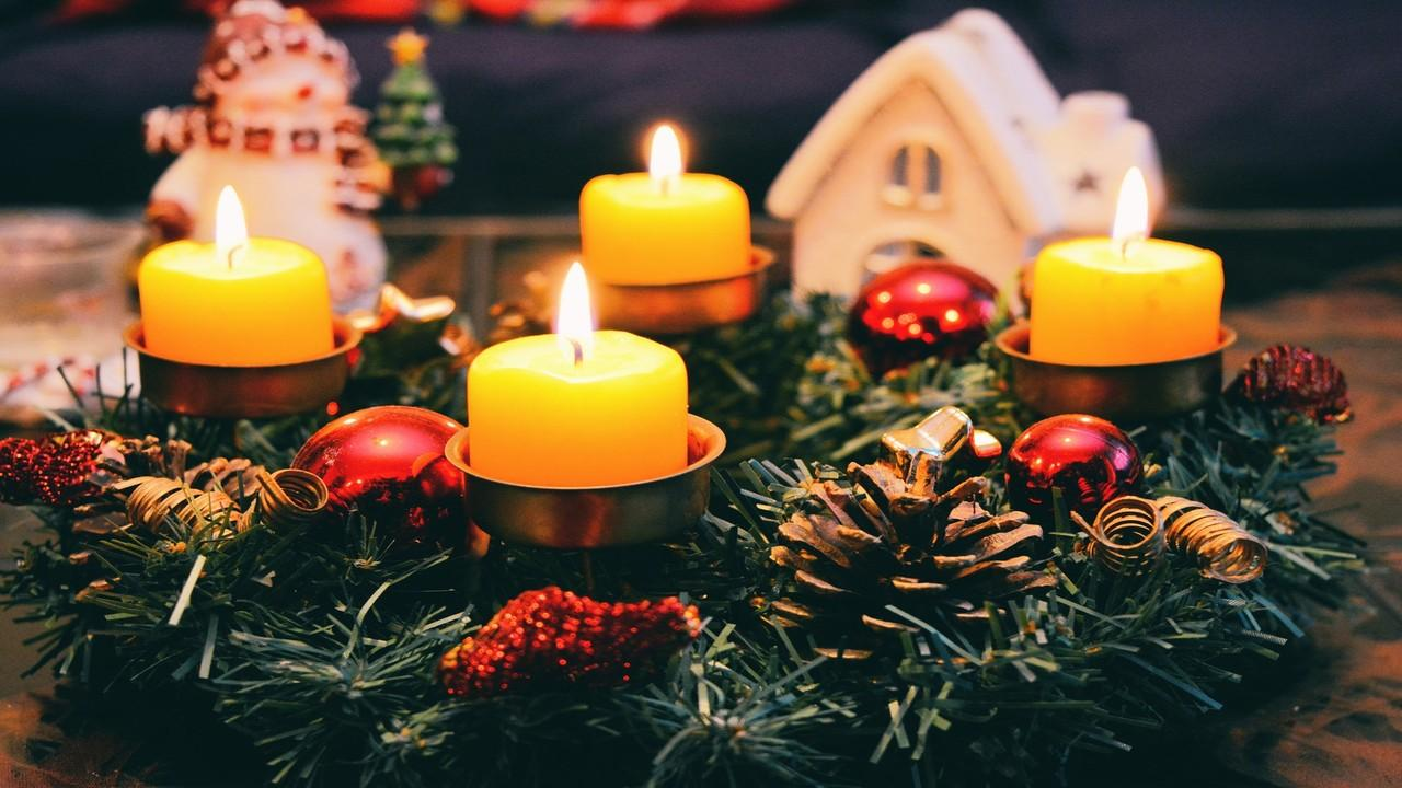 Xmas Candles Photo Ornaments