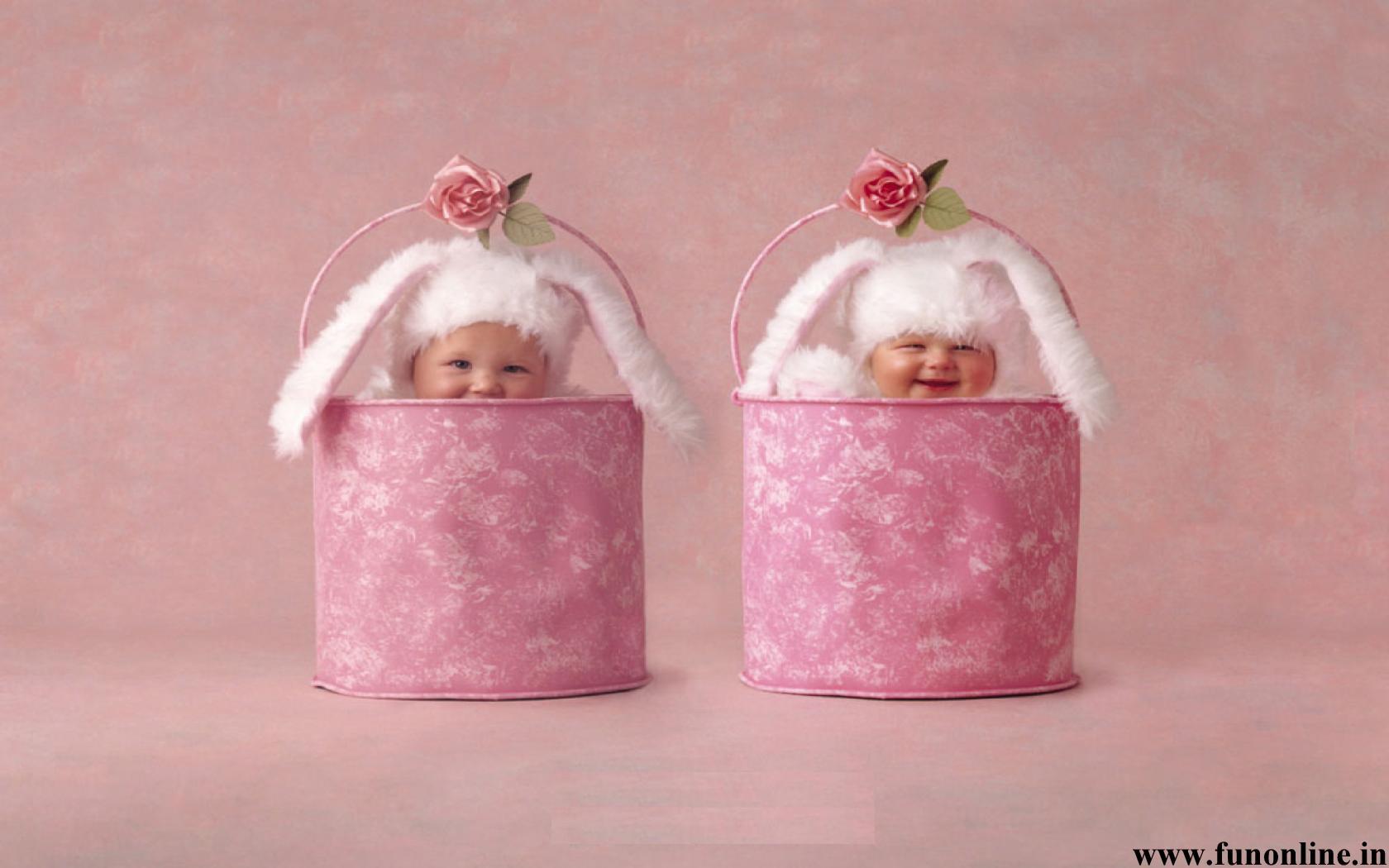 Babies In Bunny Costume