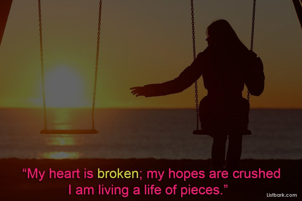 Broken Heart Sms For Her