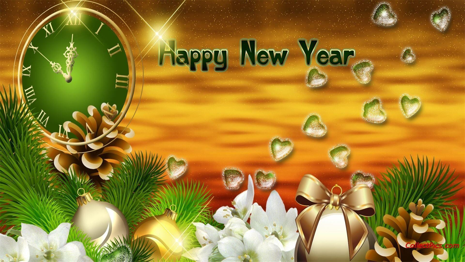 Happy New Year Stylish Photo