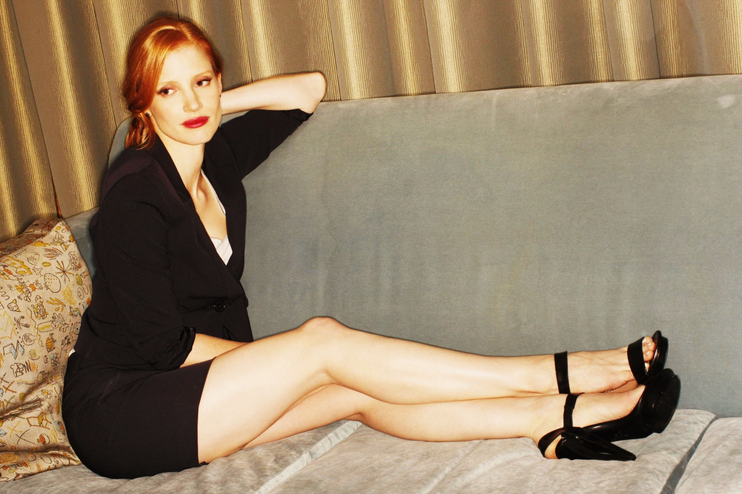 Jessica Chastain Hot Magazine Photoshoot