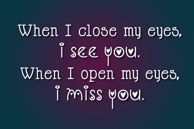 Miss You Captions for Him or Her