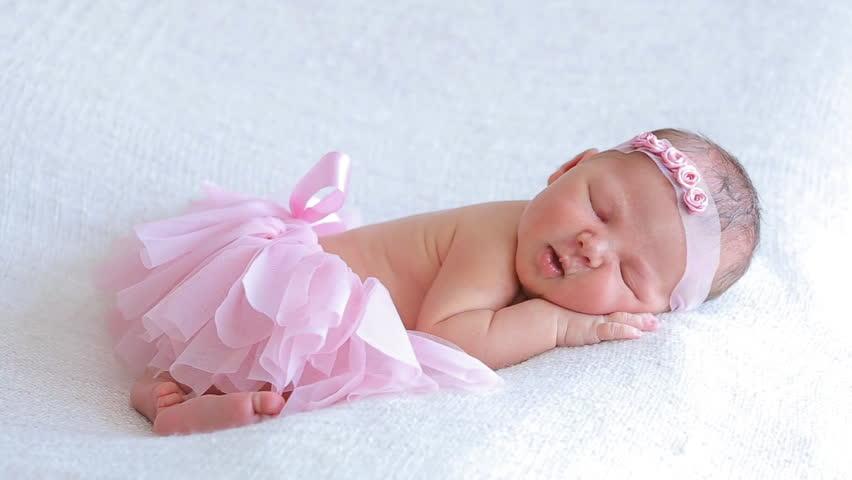 New Born Sleeping Baby Image