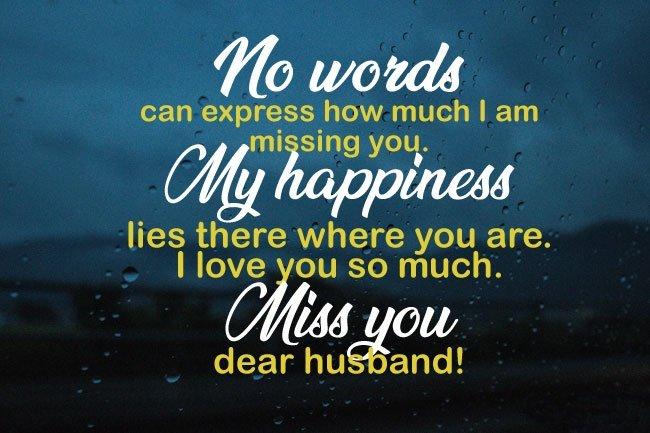 Romantic Miss You husband Status