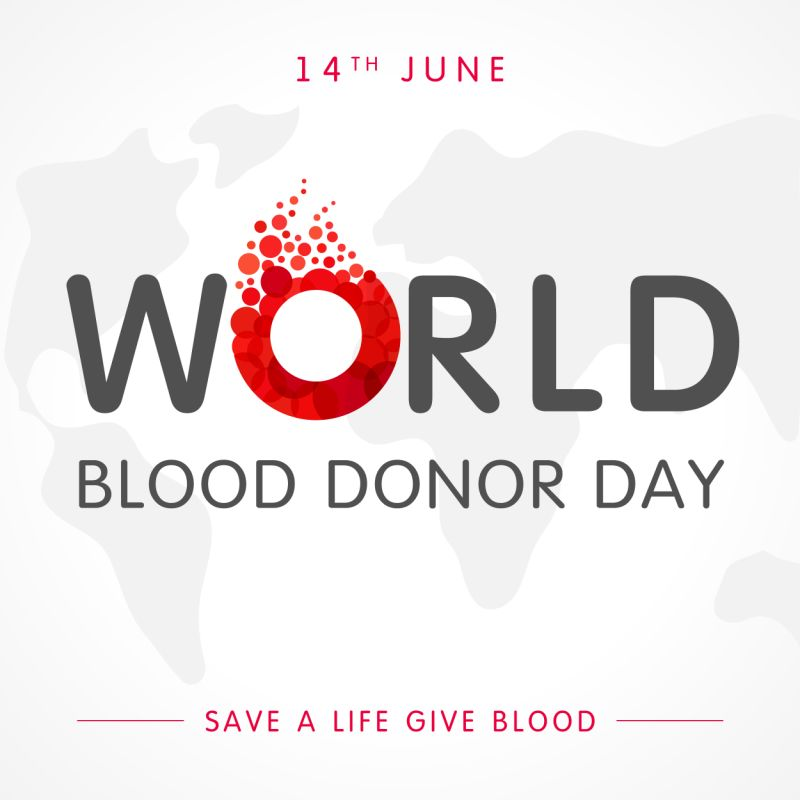 14 June World Blood Donor Day Rubber Stamp