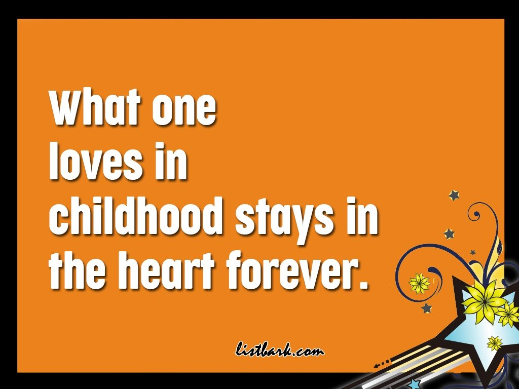 Childhood Memories Quotes Caption