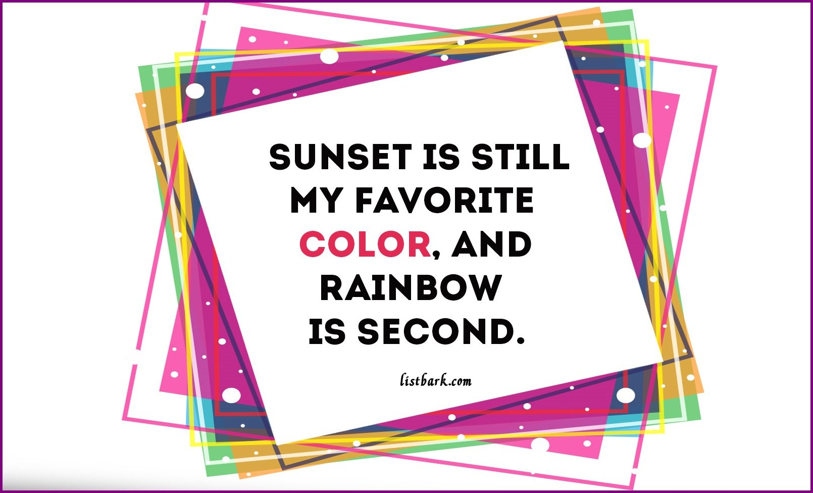 Color Sayings and Quotes