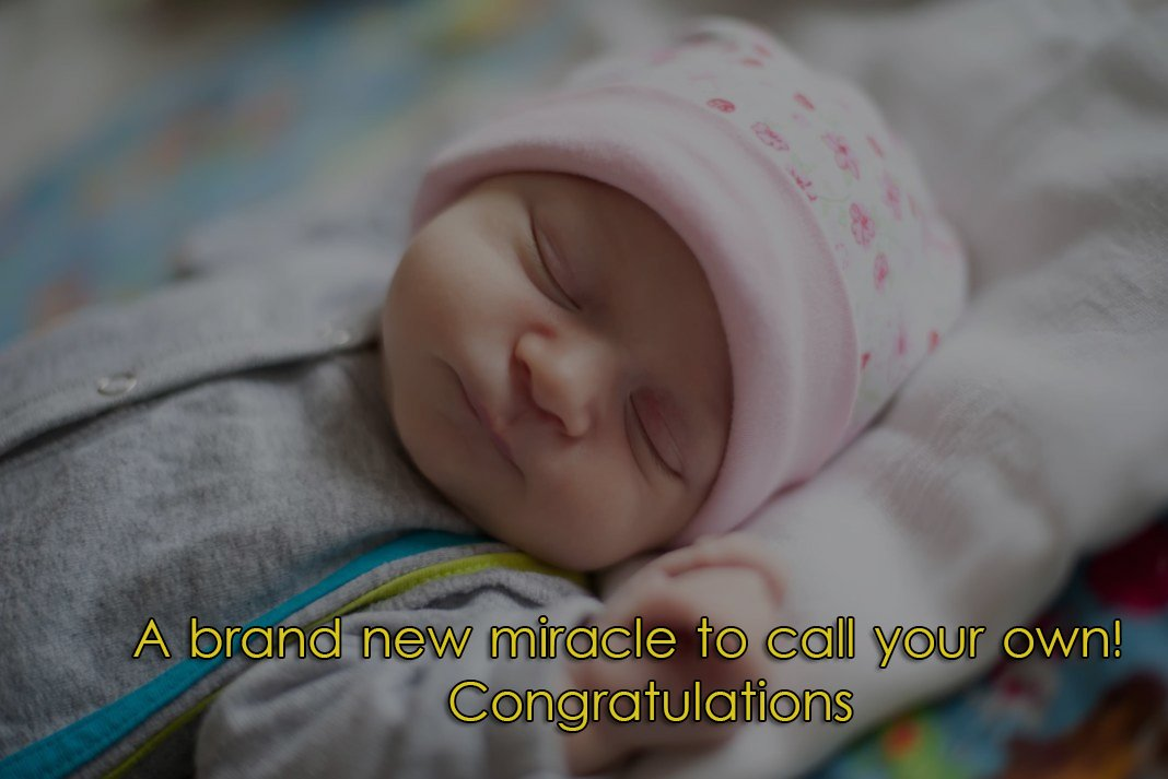Congrats On Your New Arrival Glitter
