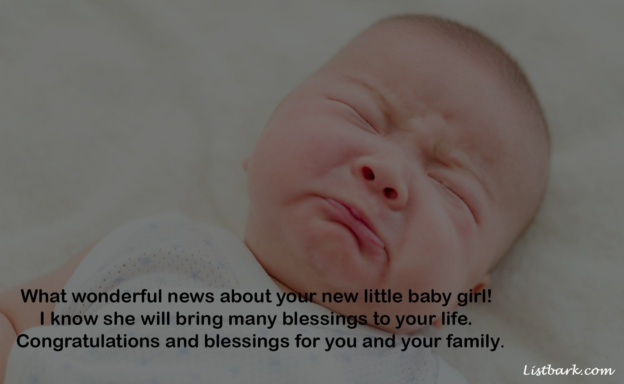 Congrats Your New Born Baby Girl