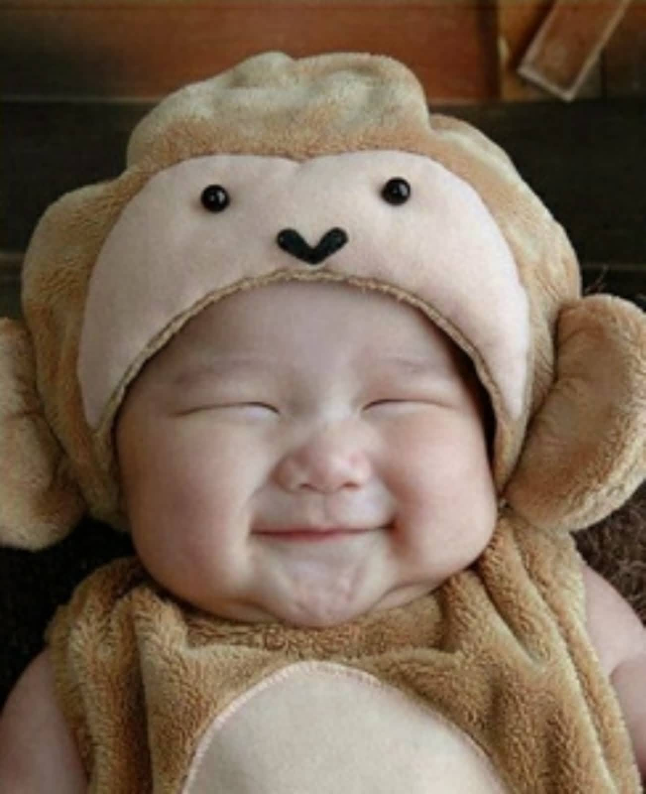Cute Funny Baby Smile During Sleeping