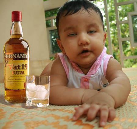 Funny Drunken Baby Picture