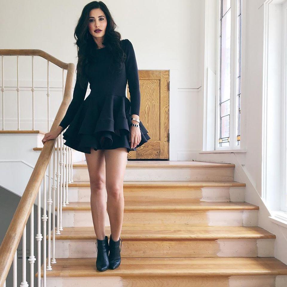 Nargis Fakhri Hot Black Wear