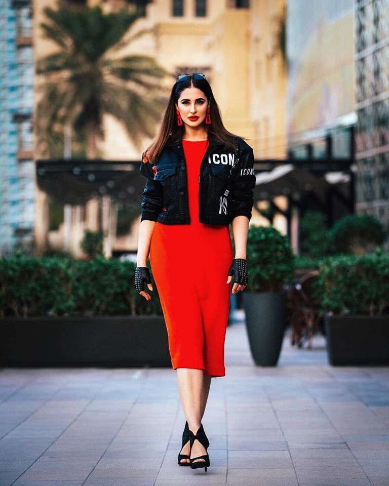 Nargis Fakhri in Red Dress