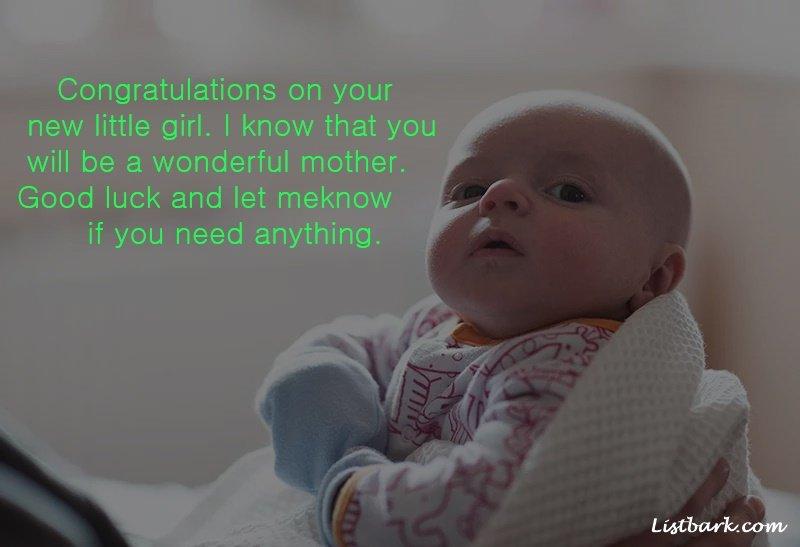 Newborn Baby Girl Wishes To Parents