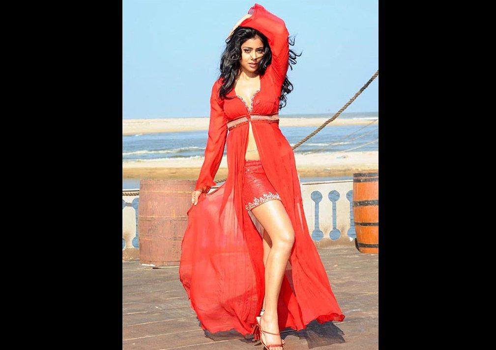 Shriya Saran Red Dress