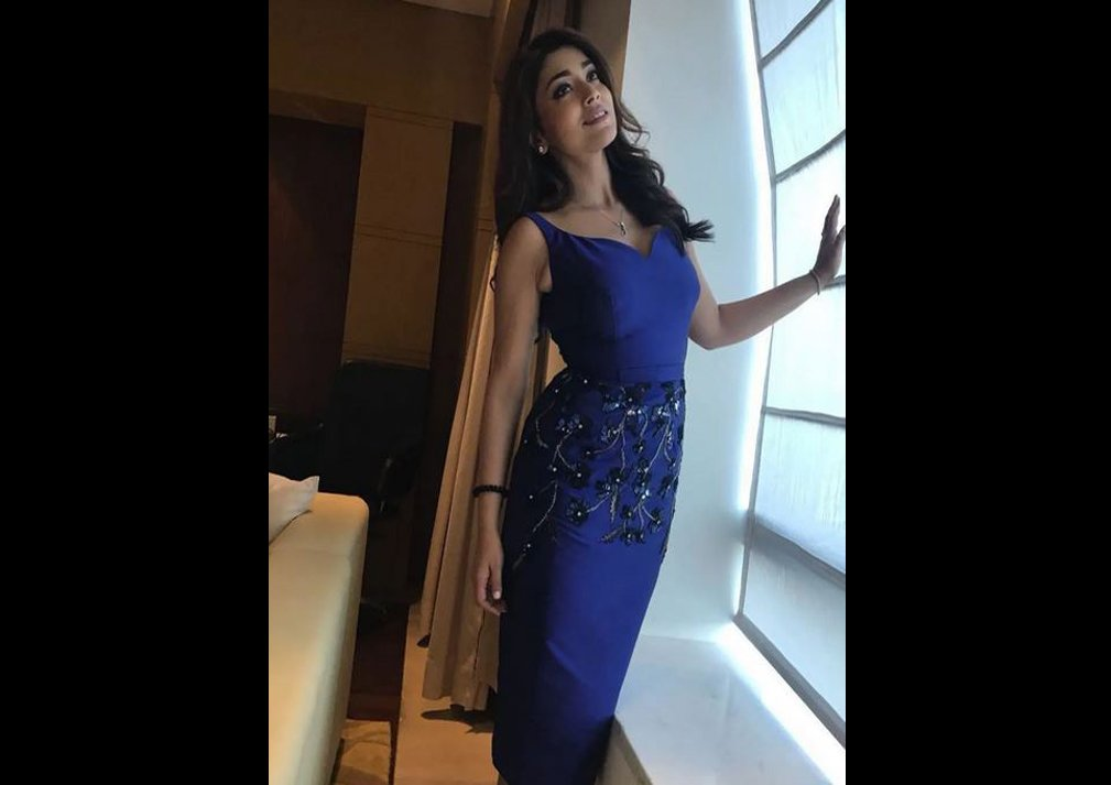 Shriya Saran in Blue Dress