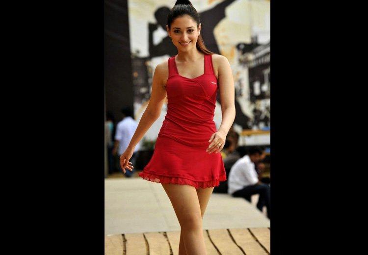 Tamanna Bhatia Red Bikini