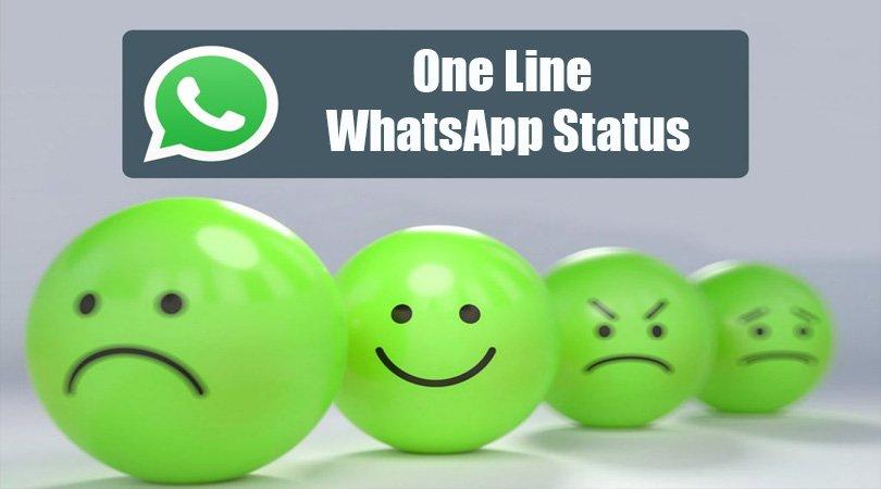 WhatsApp Status in One Line