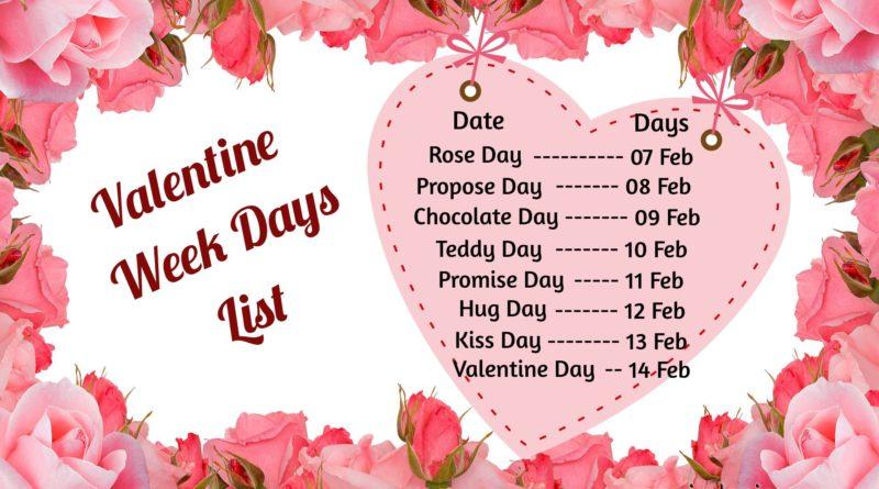 7th Feb to 14th Feb Weeks