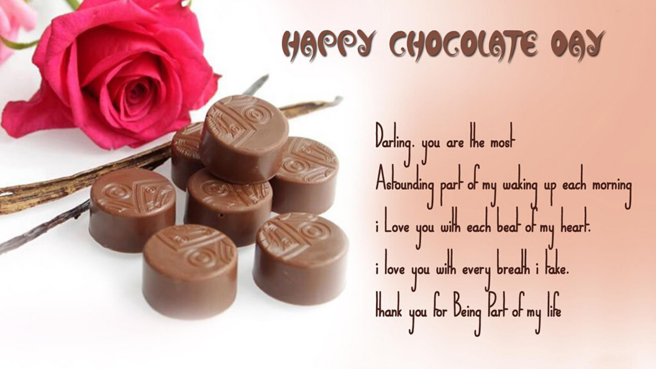 Chocolate Messages for Boyfriend