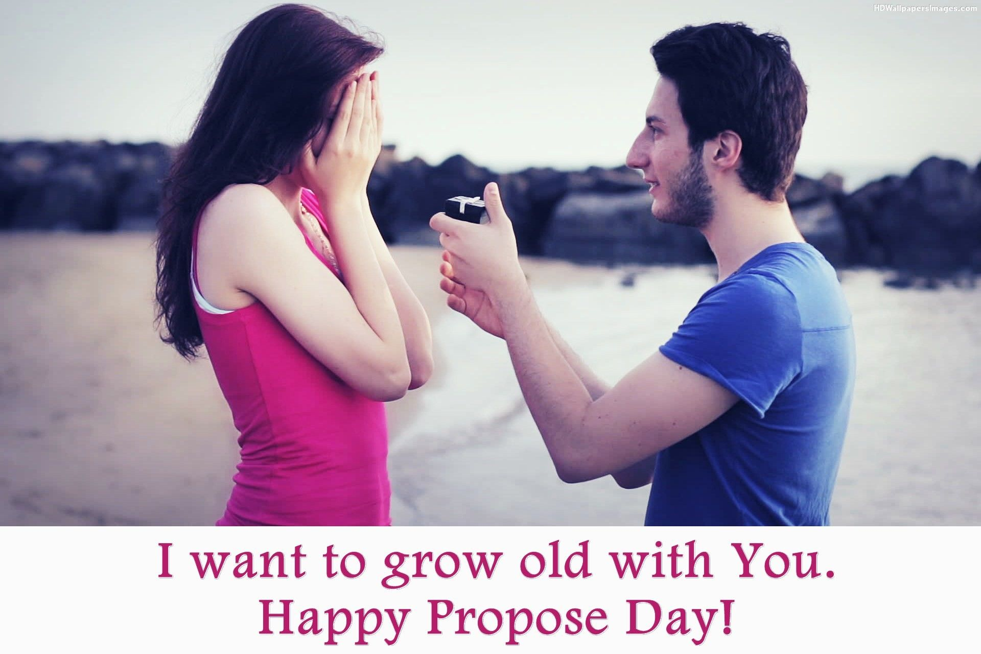 Couple Propose Wallpaper