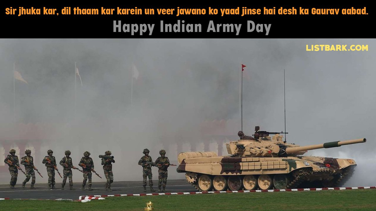 Indian Army Day Status Messages Hindi