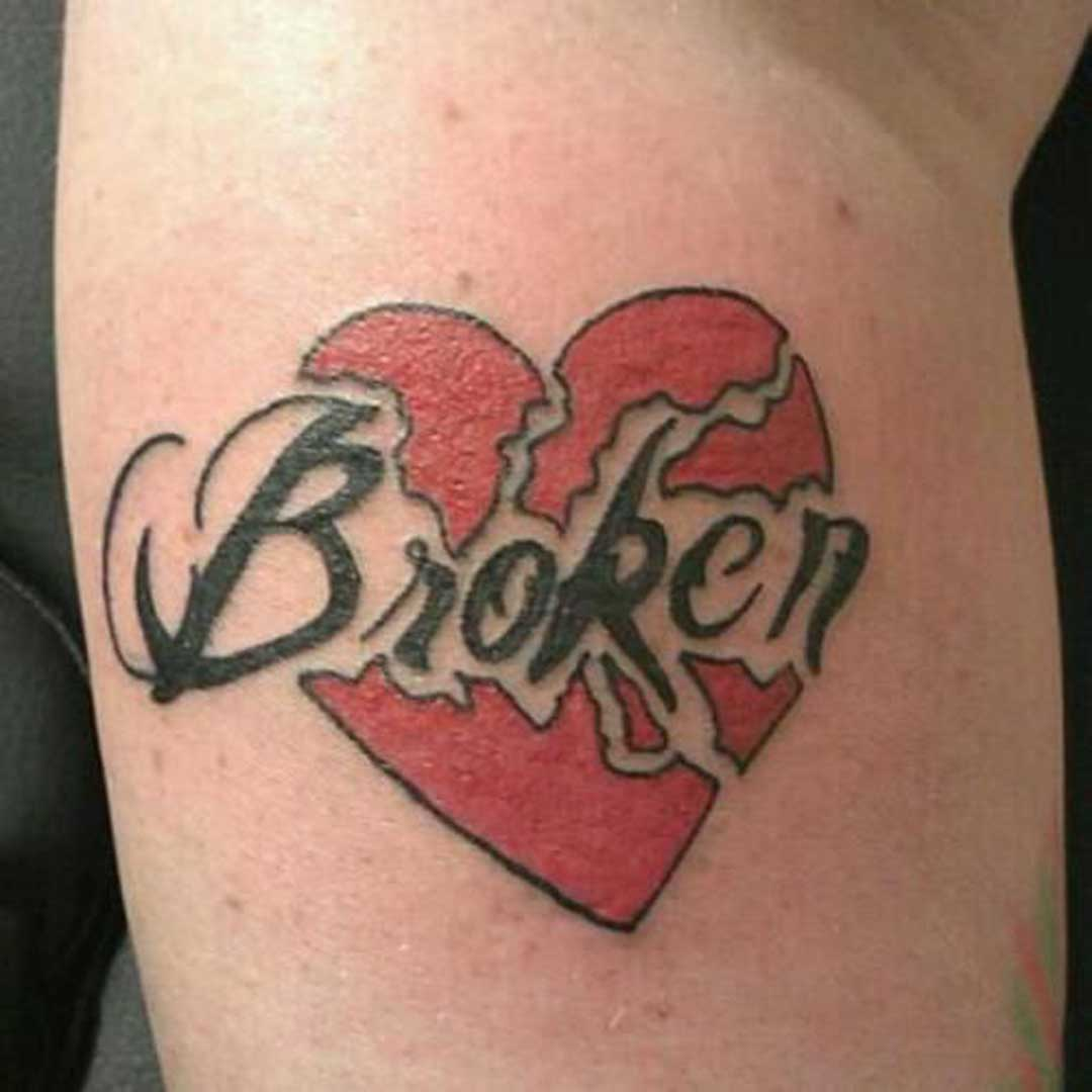 Artistic Broken Heart Tattoo
