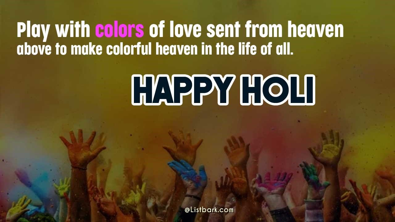 Colourful Happy Holi Photos