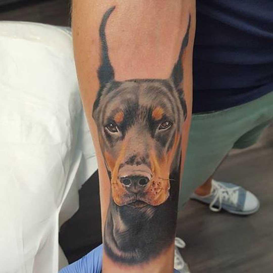 Doberman Tattoo Photo