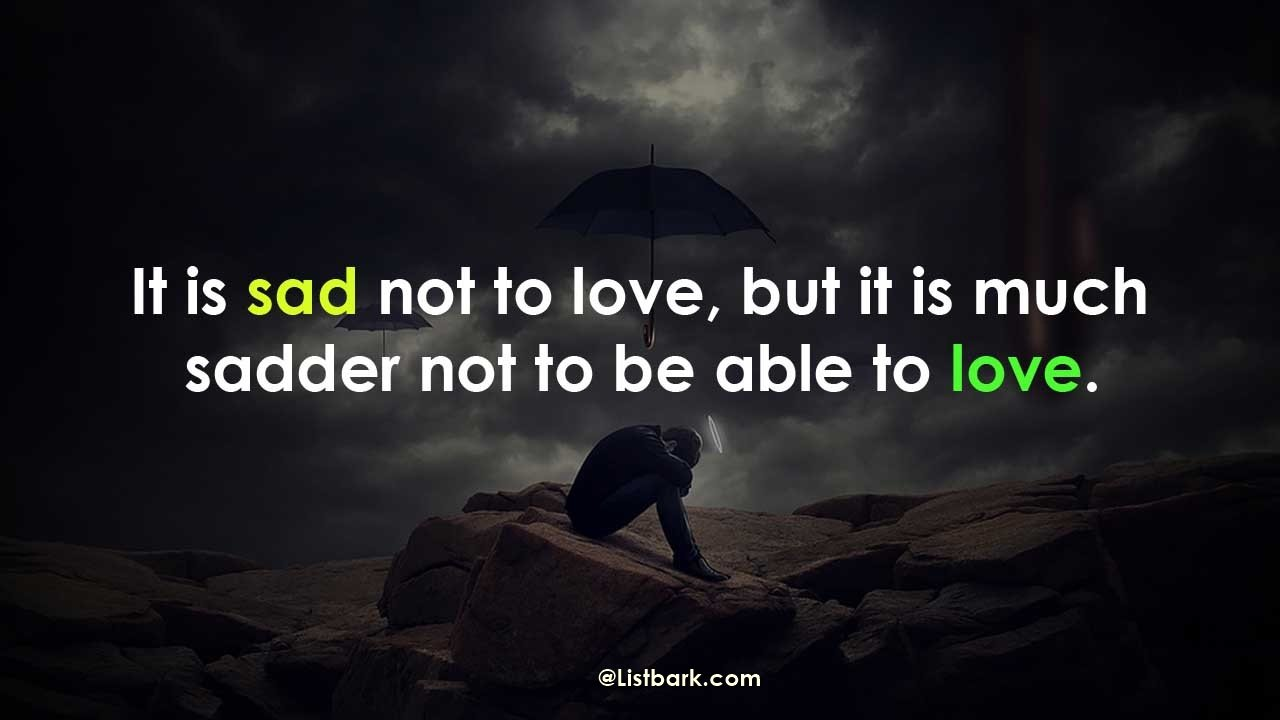 Emotional Sad Love Quotes