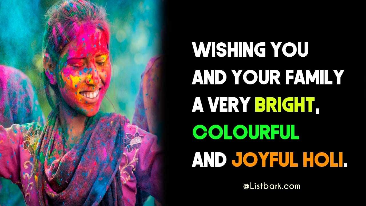 Happy Holi Messages Status