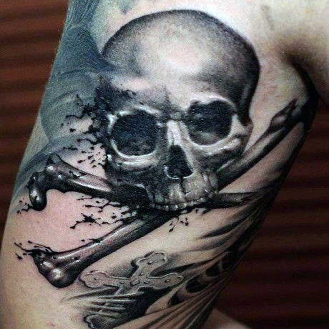 Pirate Crossbone Tattoos Ideas