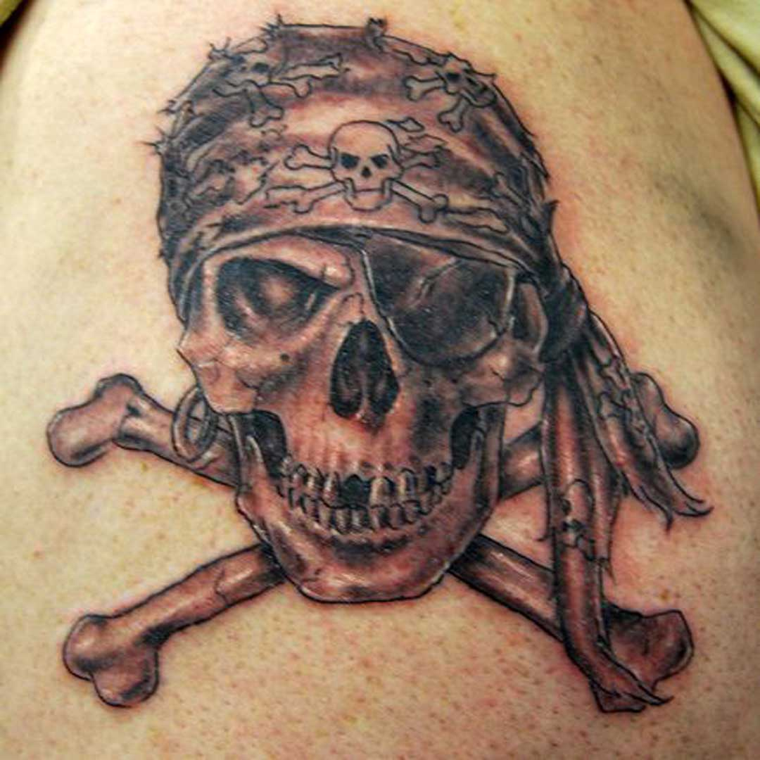 Pirate Crossbone Tattoos Photo