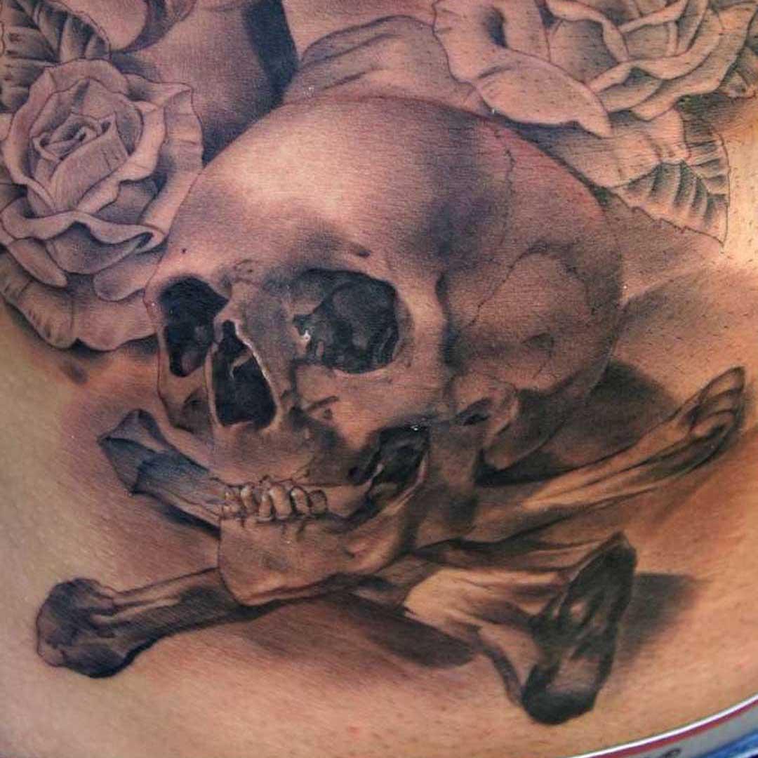 Pirate Skull Crossbone Tattoo Design