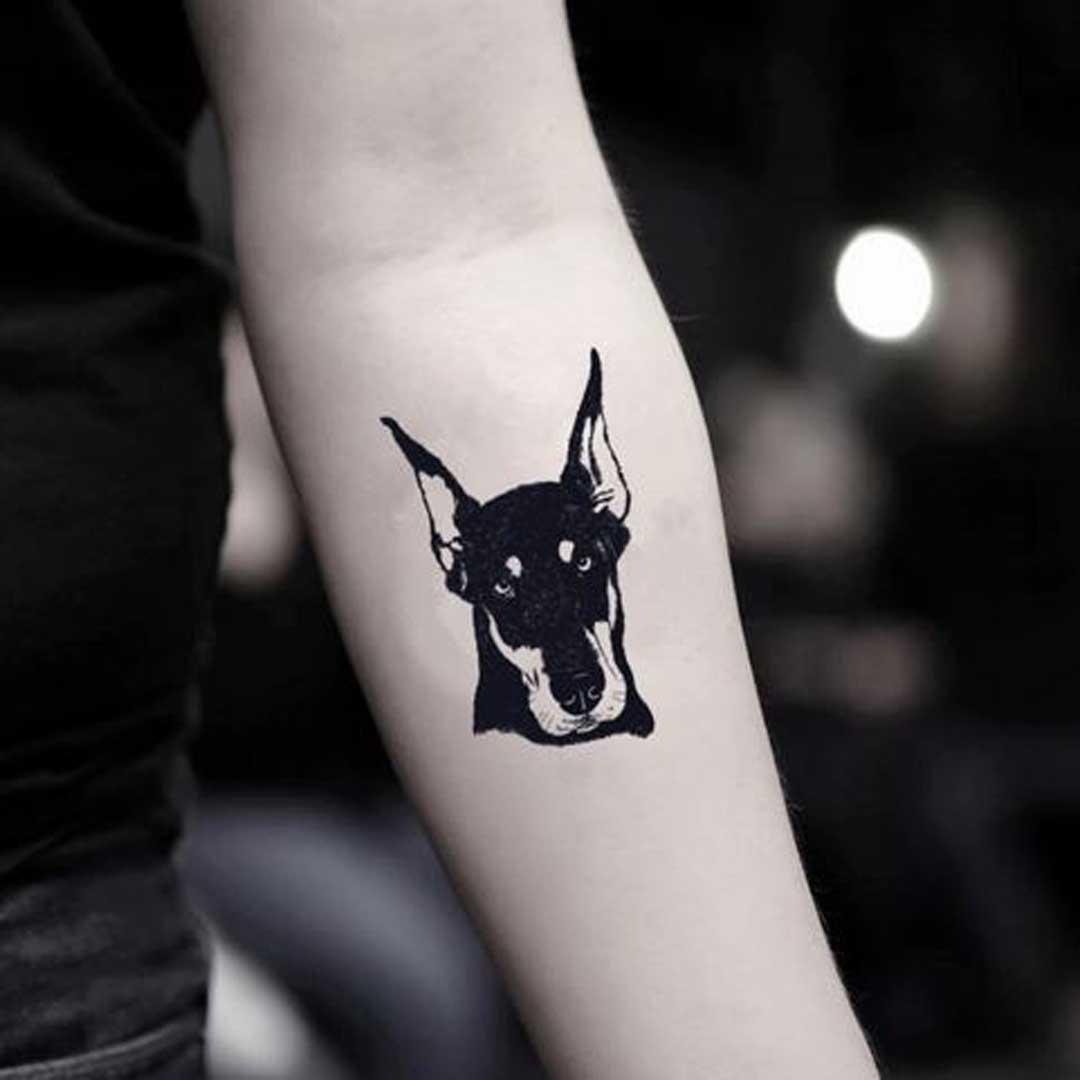 Simple Doberman Tattoo