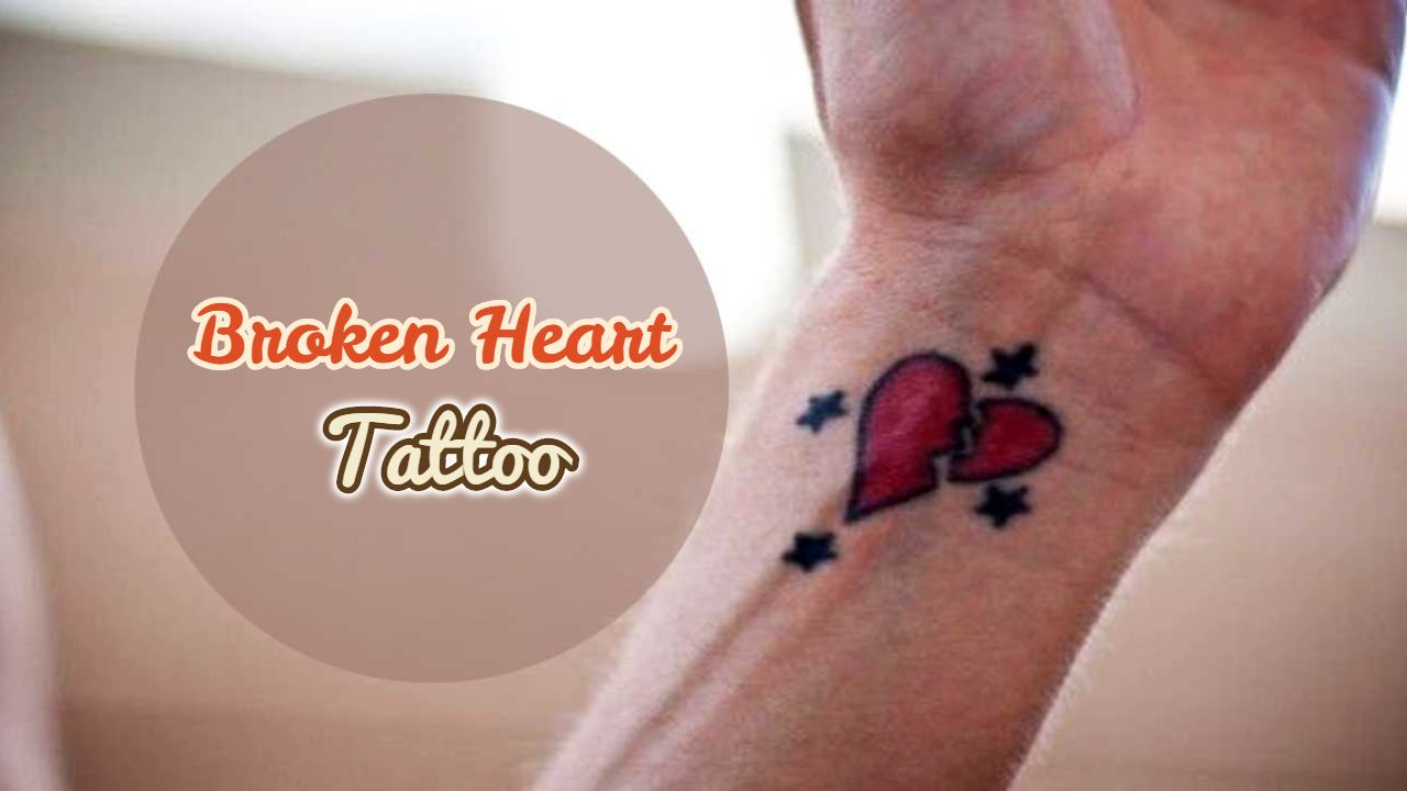 16 Famous Broken Heart Tattoo Ideas Images