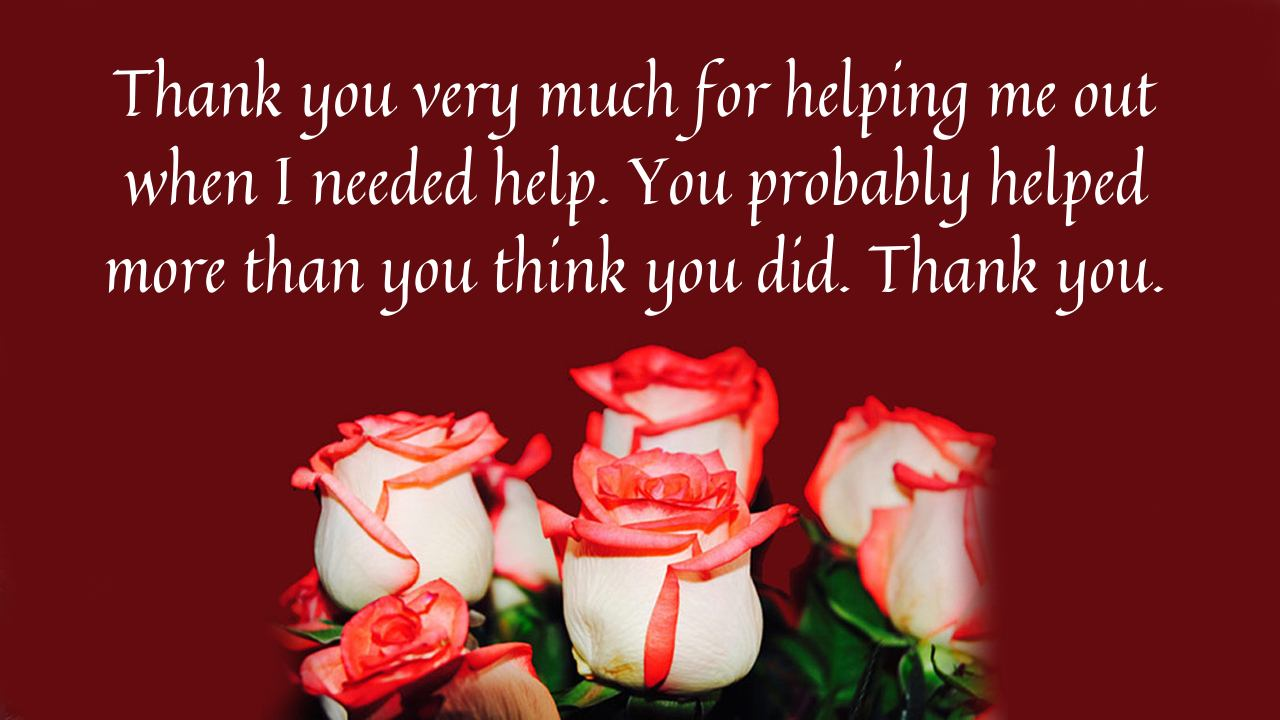 Thank You Messages For Help