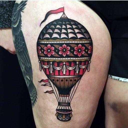 Balloon Tattoo Design