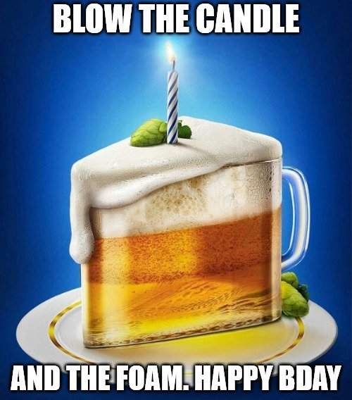 Blow the Candle and the Foam. Happy Bday
