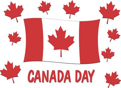 Canada day flag clipart
