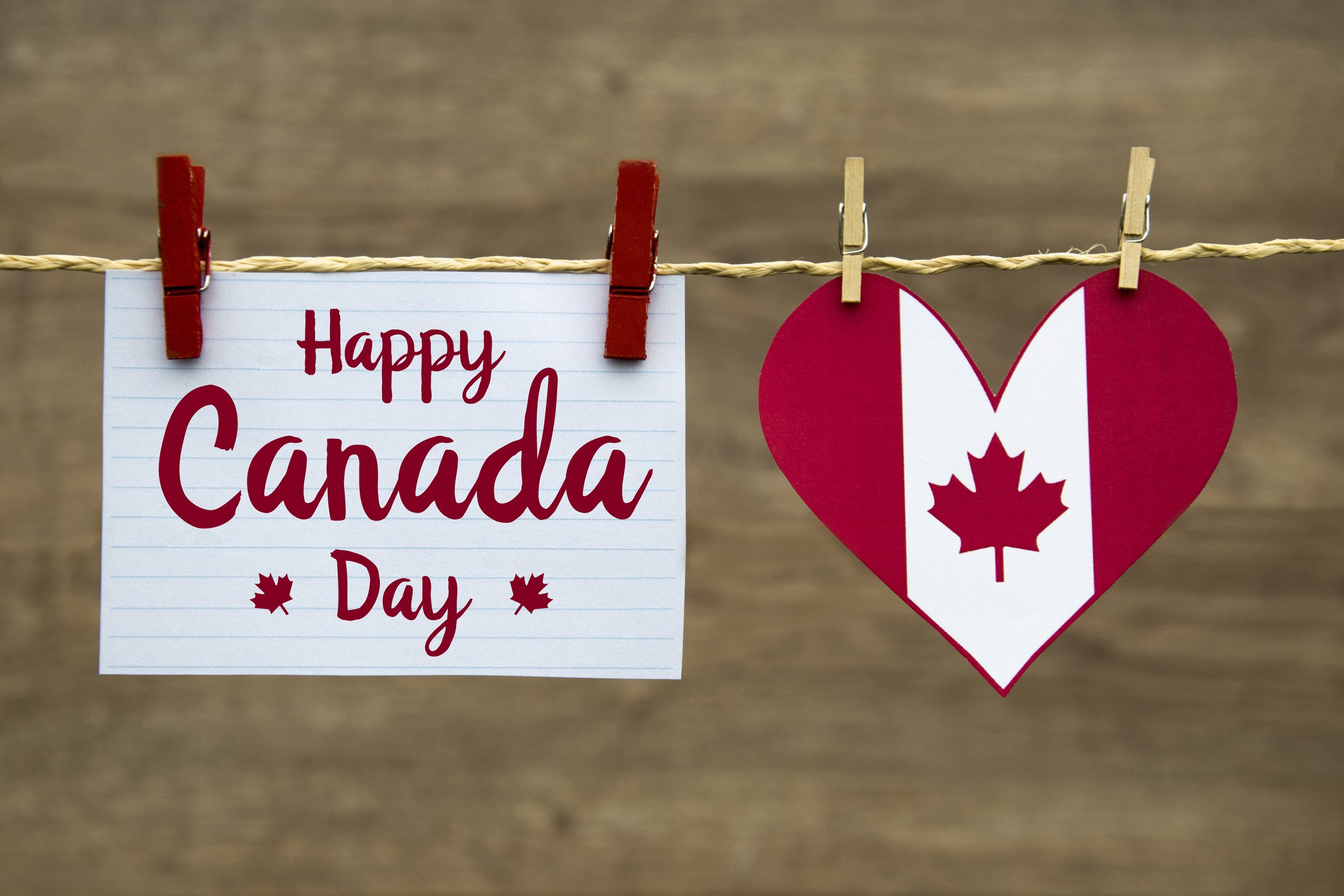 Canada day heart images
